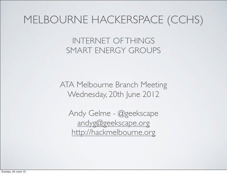 Internet Of Things, Smart Energy Groups