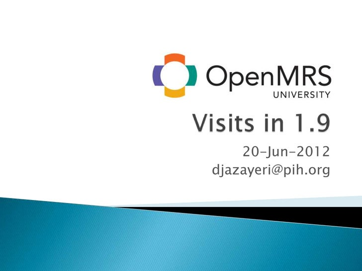 Visits in OpenMRS 1.9