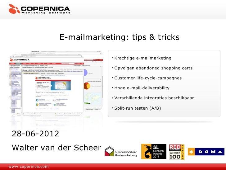 E-mailmarketing: tips & tricks                                 • Krachtige e-mailmarketing                                ...