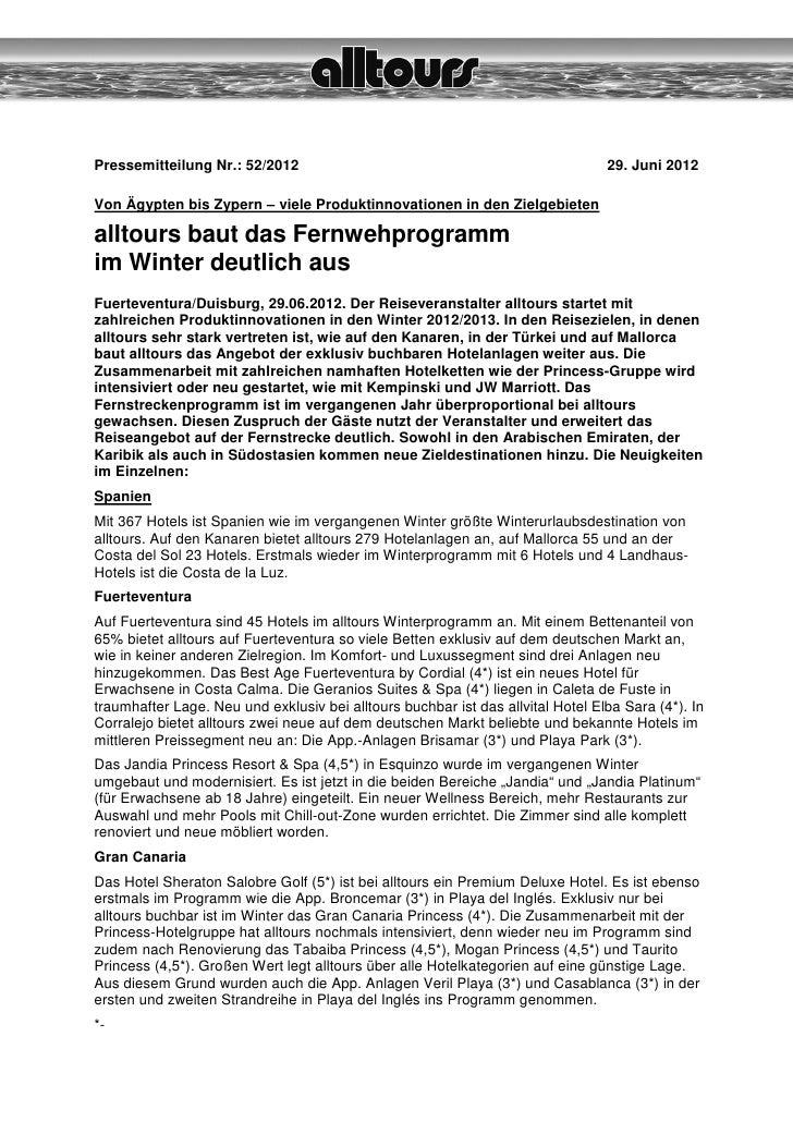 Pressemitteilung Nr.: 52/2012                                                    29. Juni 2012Von Ägypten bis Zypern – vie...