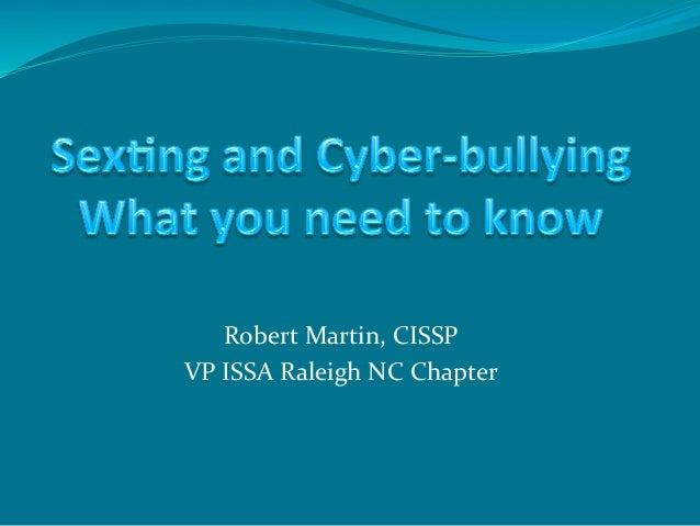 2012 06 Sexting and Cyberbullying