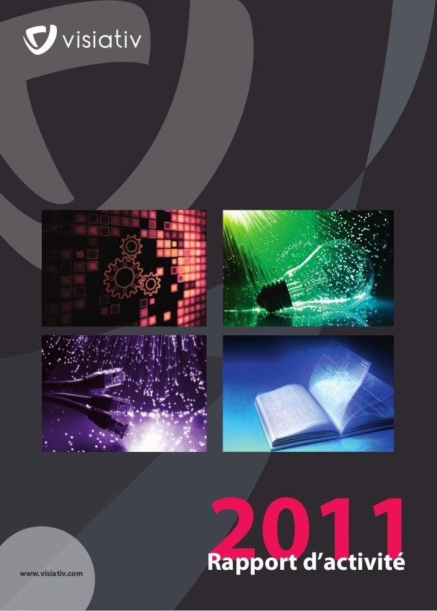 Rapport d'activité Groupe Visiativ 2011