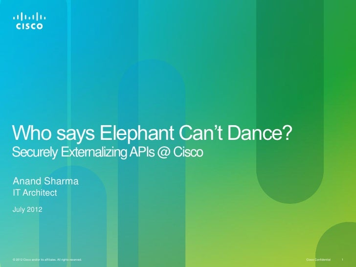 Who says Elephant Can't Dance?