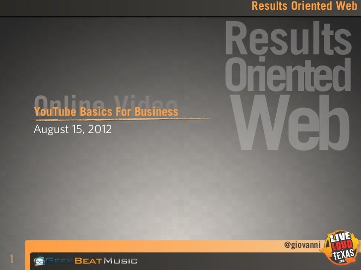 Results Oriented Web                                  Results                                  Oriented    Online Video   ...