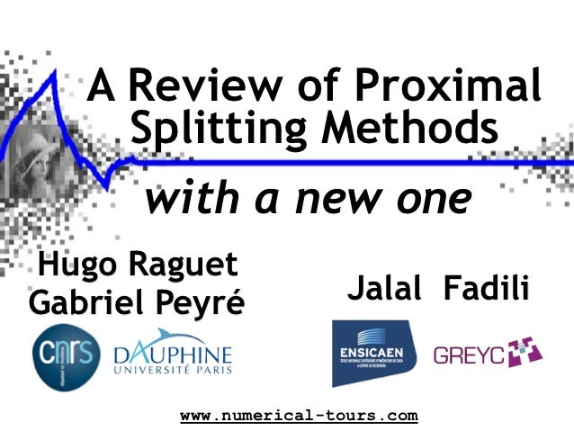A Review of Proximal Methods, with a New One