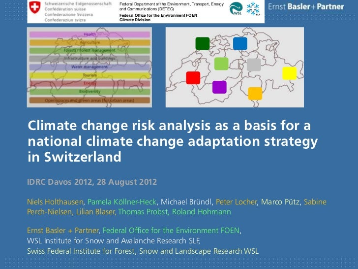 Climate change risk analysis as a basis for a national climate change adaptation strategy in Switzerland