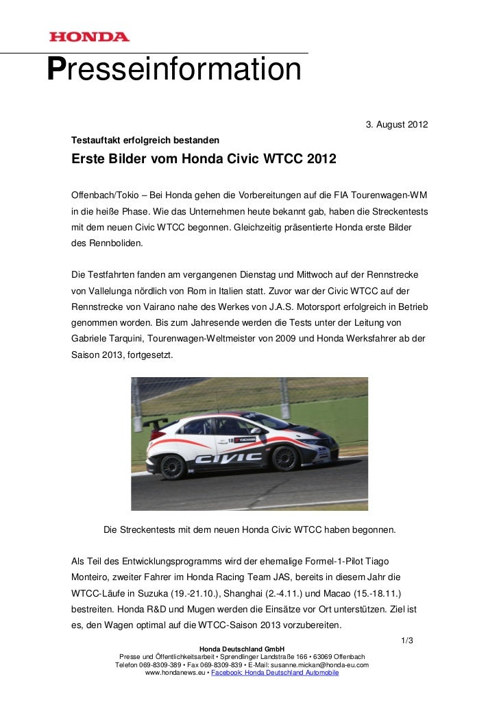 Presseinformation                                                                                          3. August 2012 ...