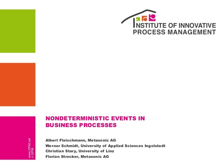 Presentation: Nondeterministic events in business processes