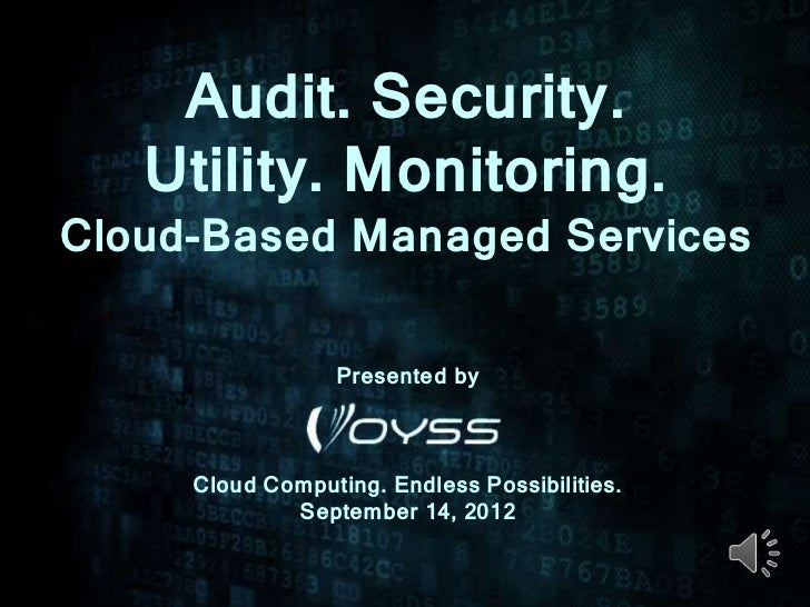 Voyss Cloud-Based Managed Services Webinar 9-14-12