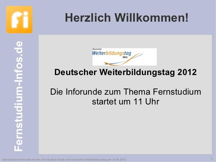 Fernstudium-Infos.de                   Herzlich Willkommen!                                      Deutscher Weiterbildungst...