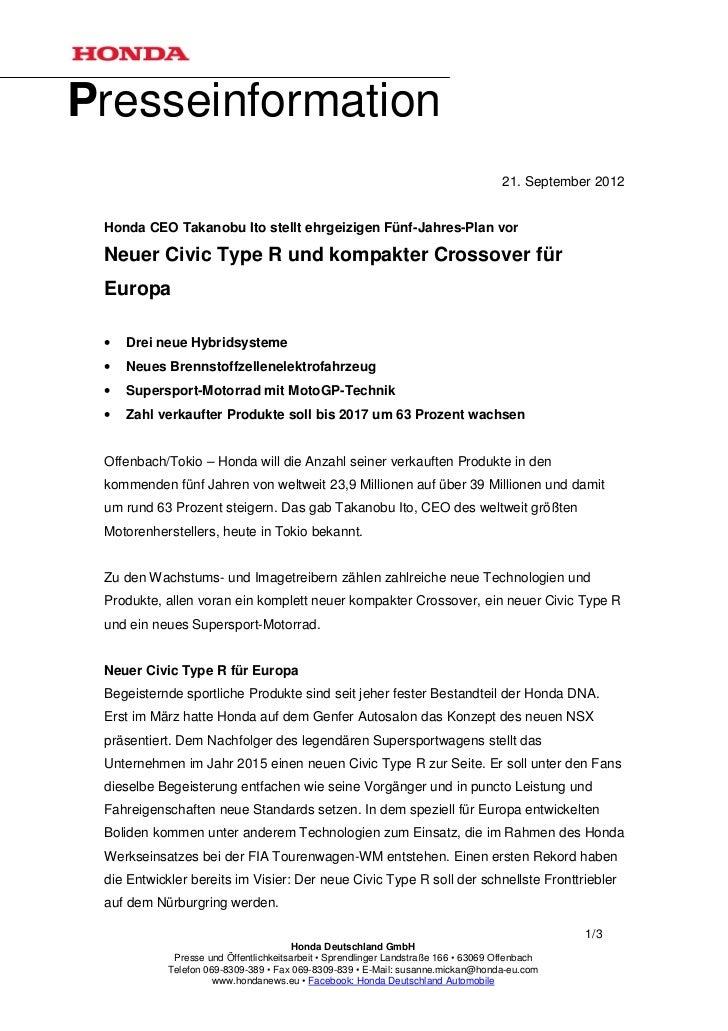 Presseinformation                                                                                     21. September 2012 H...