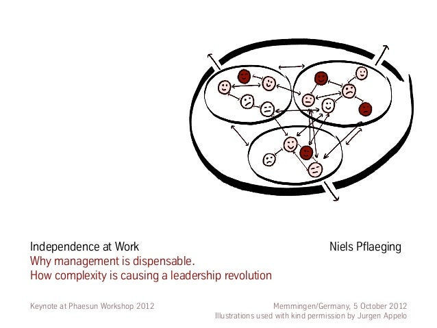 Independence at Work                                                  Niels PflaegingWhy management is dispensable.How com...