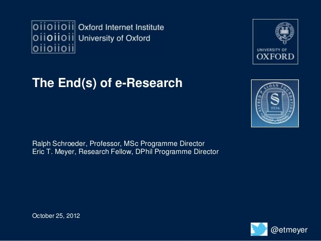 The End(s) of e-Research