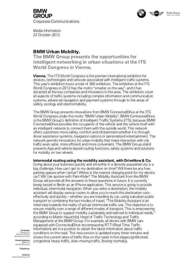 Corporate Communications                       Media Information                       22 October 2012                    ...