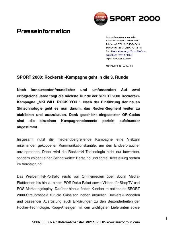 SPORT 2000: Rockerski-Kampagne geht in die 3. RundeNoch    konsumentenfreundlicher        und       umfassender:     Auf  ...