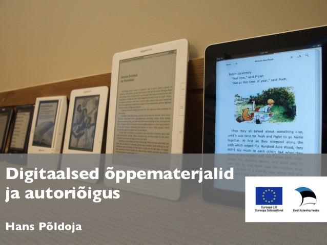 Digitaalsed õppematerjalid ja autoriõigus