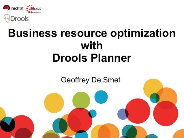 Drools planner - 2012-10-23 IntelliFest 2012