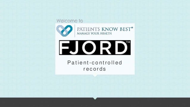 Patient-controlled     records                     1