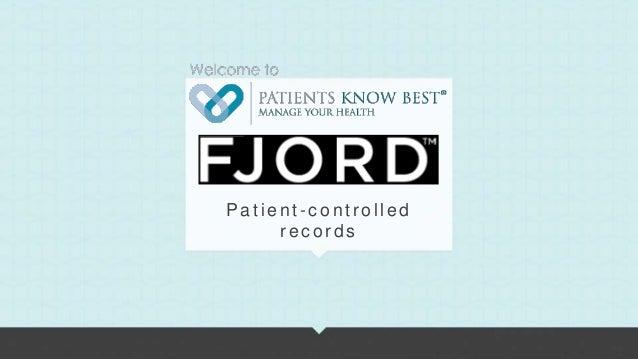 Patients Know Best, Fjord Kitchen presentation