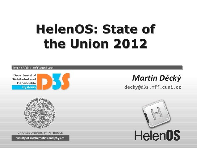 HelenOS: State of the Union 2012