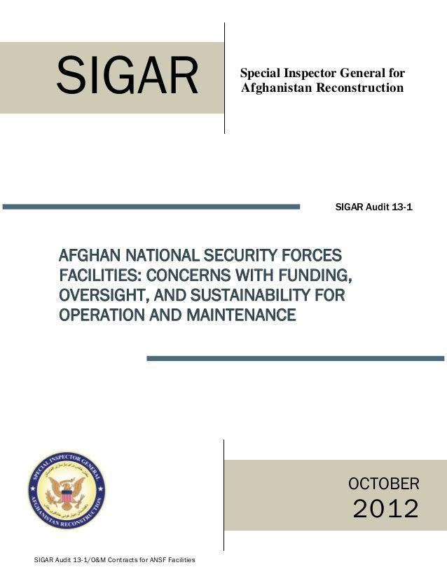 SIGAR                                          Special Inspector General for                                              ...