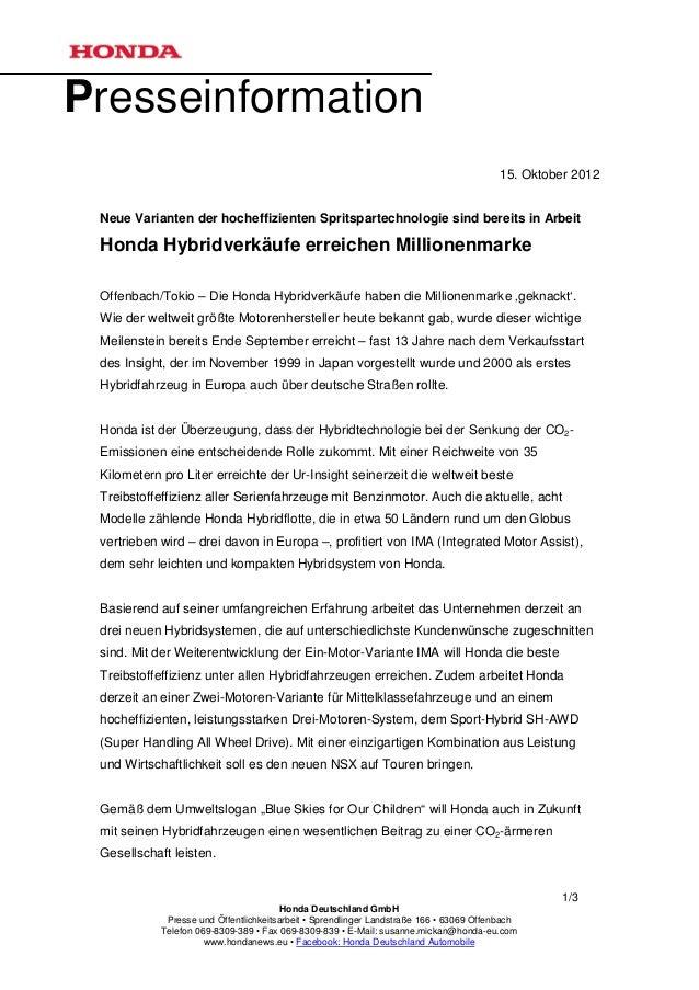 Presseinformation                                                                                         15. Oktober 2012...