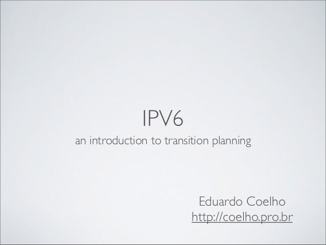 2012 11-09 facex - i pv6 transition planning-