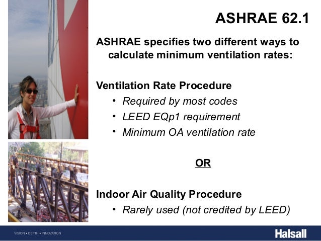 Building energy fundementals halsall for Ashrae 62 1 table 6 1
