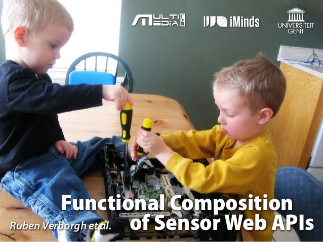 Functional Composition of Sensor Web APIs