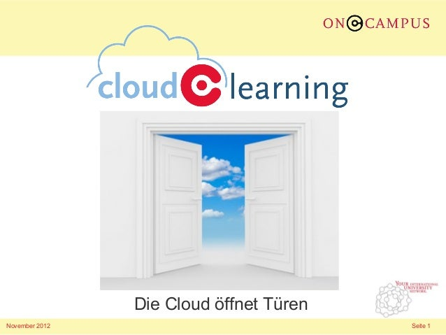 Die Cloud öffnet TürenNovember 2012                            Seite 1