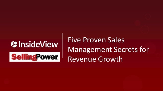 Five Proven Sales Management Secrets for Revenue Growth