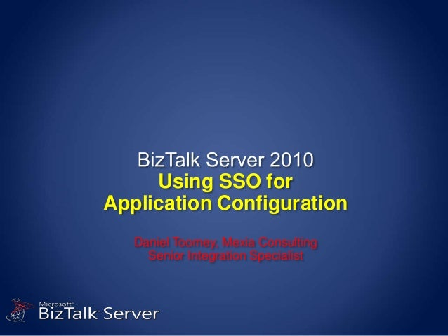 Using SSO for Application Configuration