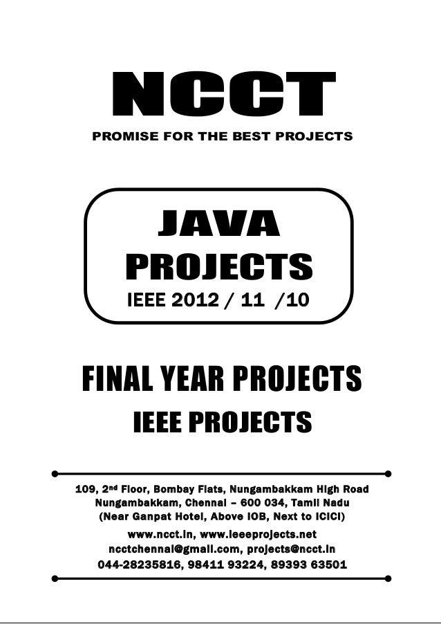 2012 11 ieee java ieee project titles yr 2012 - 11 - 10, ncct java ieee project list