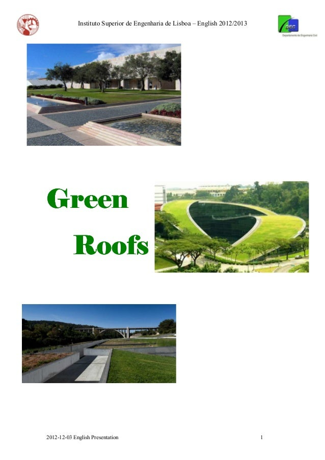 2012 12-03 english presentation green roofs
