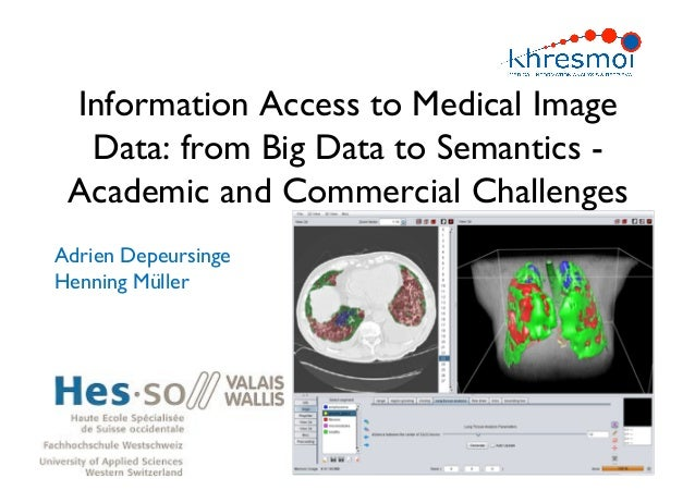 Information Access to Medical Image  Data: from Big Data to Semantics - Academic and Commercial ChallengesAdrien Depeursin...