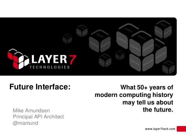 Future Interface:                What 50+ years of                          modern computing history                      ...