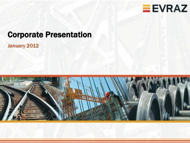 презентация для инвесторов, январь 2012