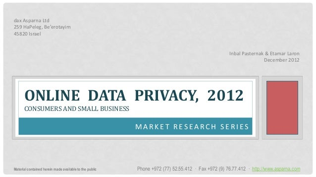 2012 12, asparna report - online privacy in 2012 - highlights