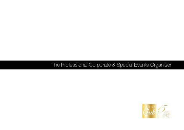 The Professional Corporate & Special Events Organiser