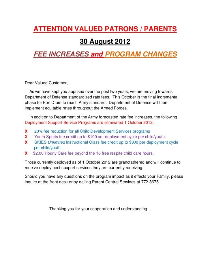 2012-13 CYSS Fee Policy Notification