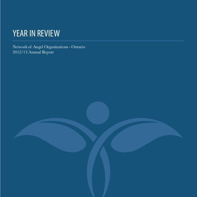 2012/13 Angel Investor Activity Report - Ontario