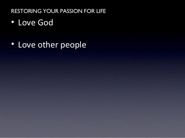 restore your passion life with