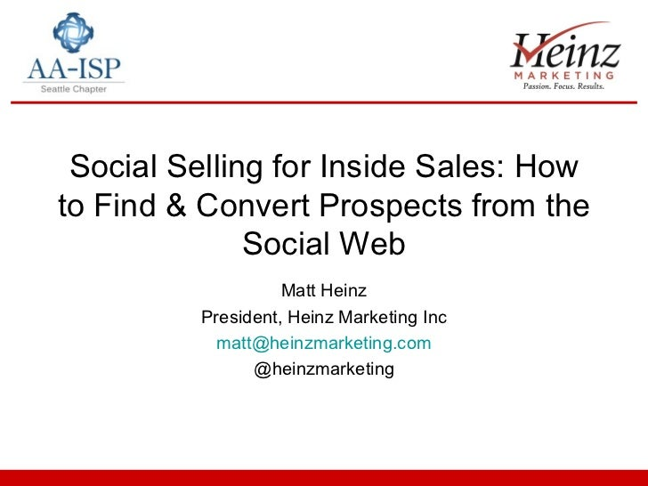 AA-ISP & Nearstream Social Selling Webinar Deck
