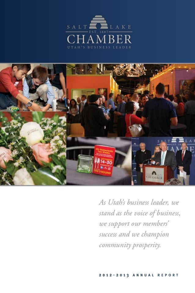 As Utah's business leader, we stand as the voice of business, we support our members' success and we champion community pr...