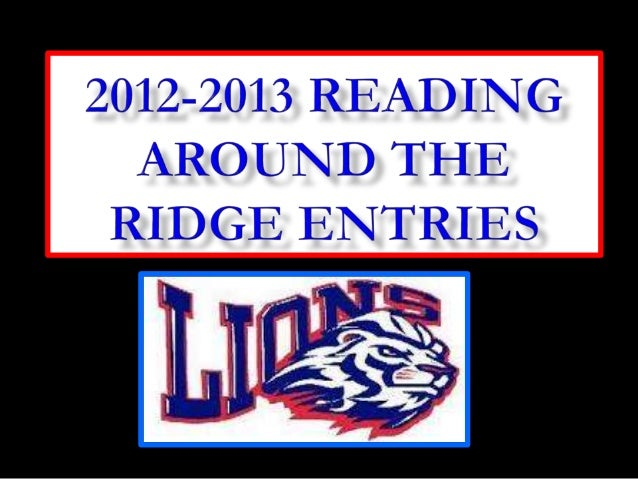 2012 2013 Reading Around the Ridge Contest