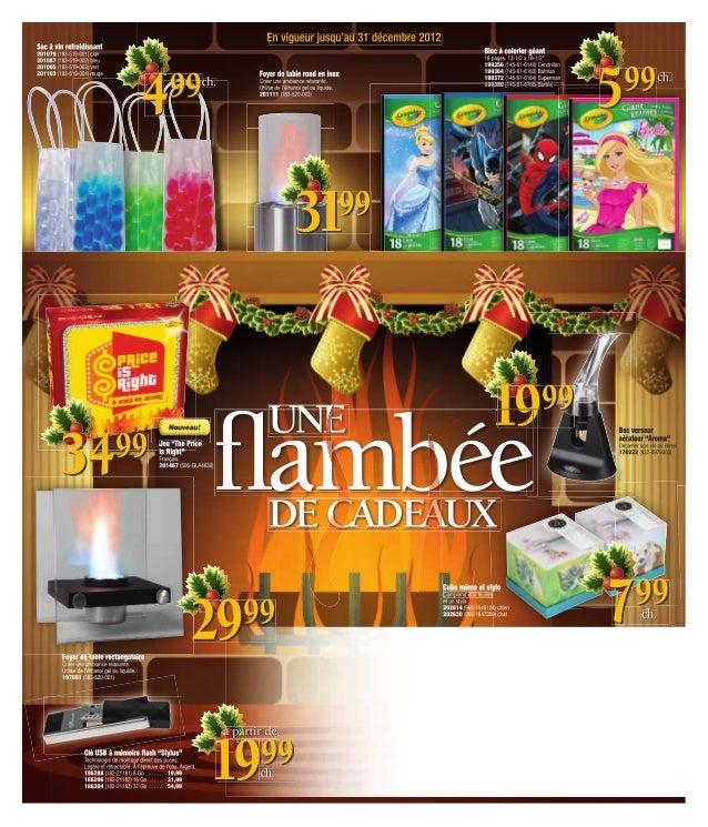 Catalogue des cadeaux 2012