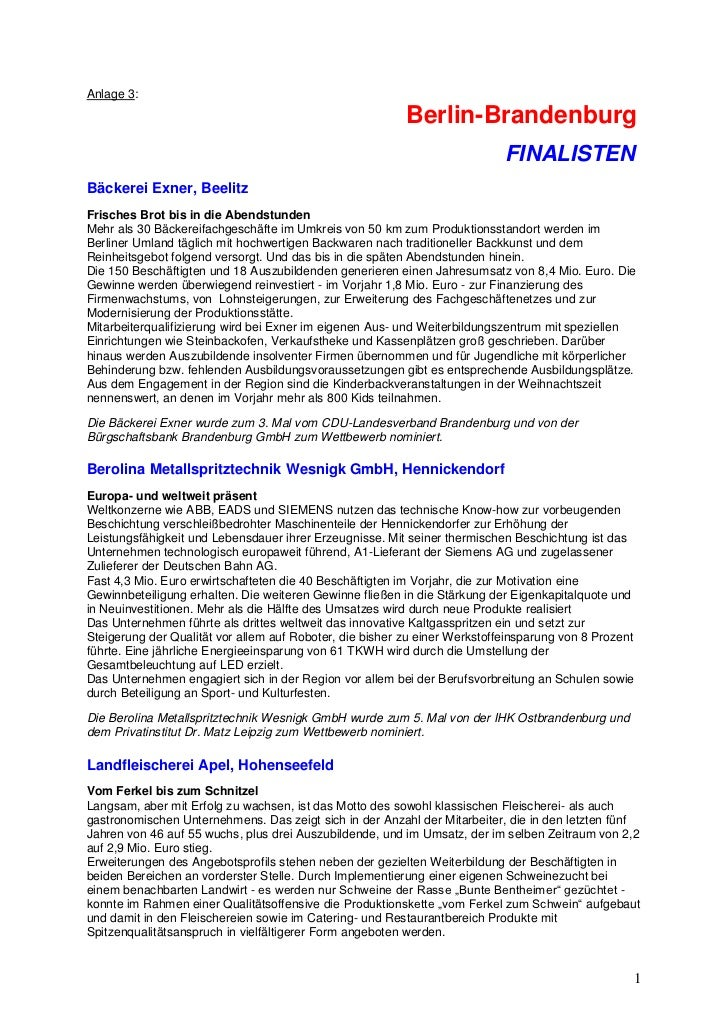 Anlage 3:                                                          Berlin-Brandenburg                                     ...