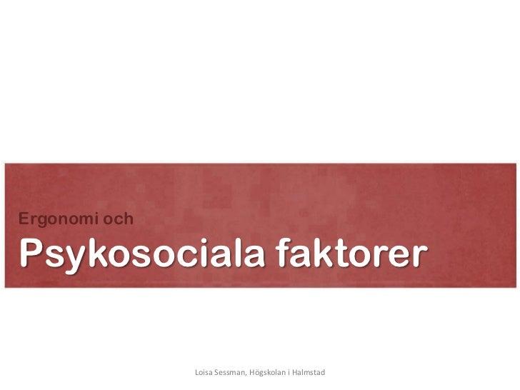 Psykosociala faktorer