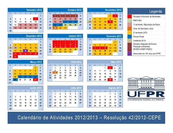 Calendário UFPR pós greve