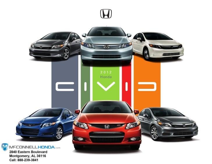 2012 Honda Civic Si Coupe Brochure Montgomery Alabama